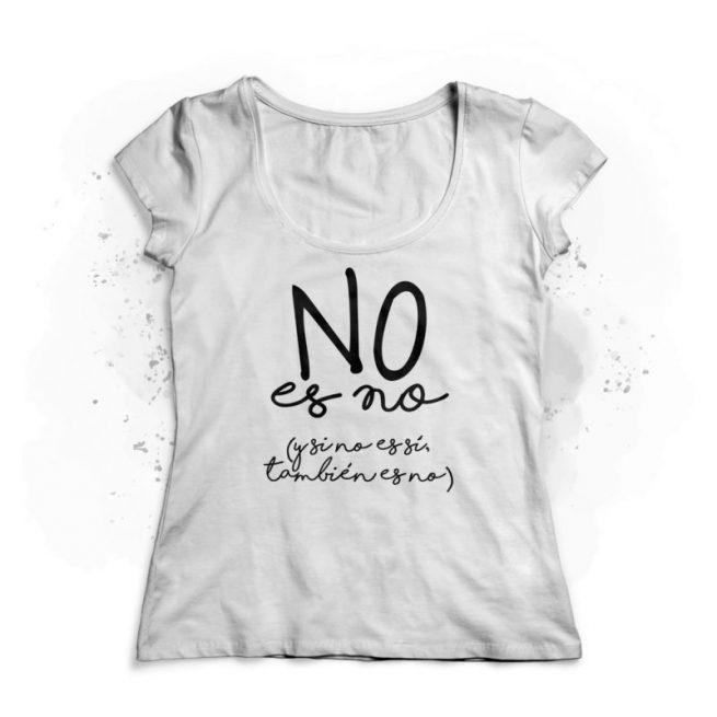 no es no camiseta mujer