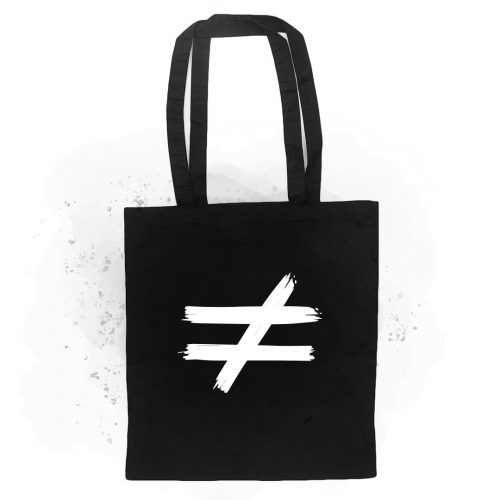 tote bag distinta negra