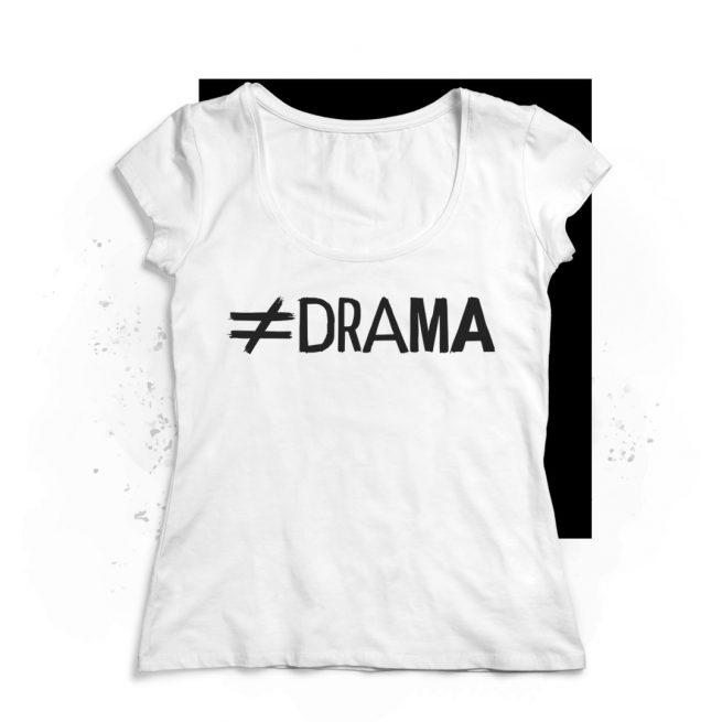 camiseta drama chica blanca