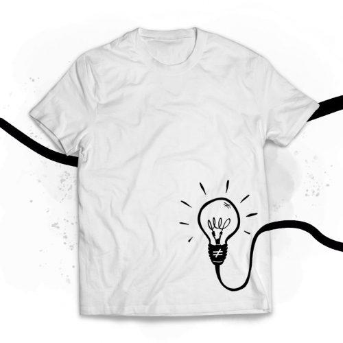 camiseta chico bombilla blanca
