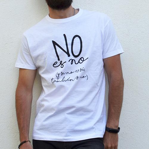 camiseta hombre no es no blanca