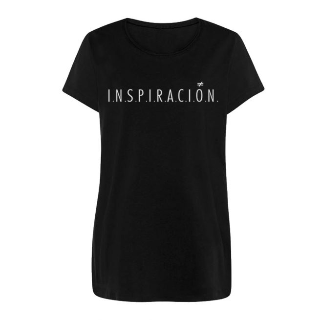 inspiracion negra camiseta chica