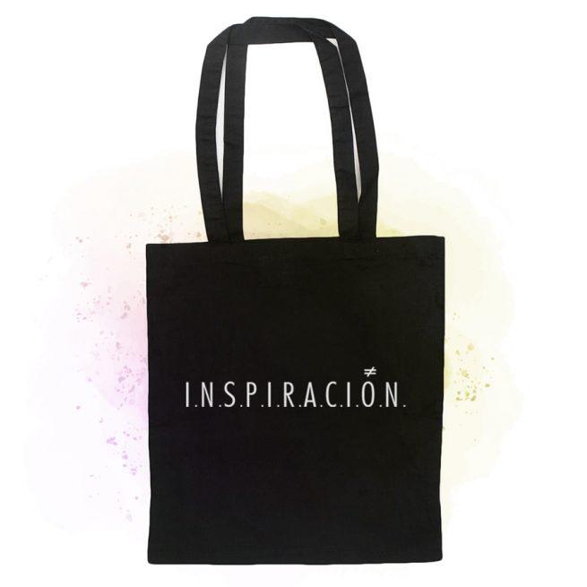 tote bag inspiracion black