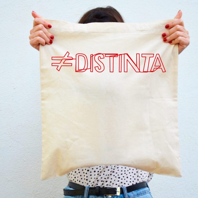 distinta trazo tote bag